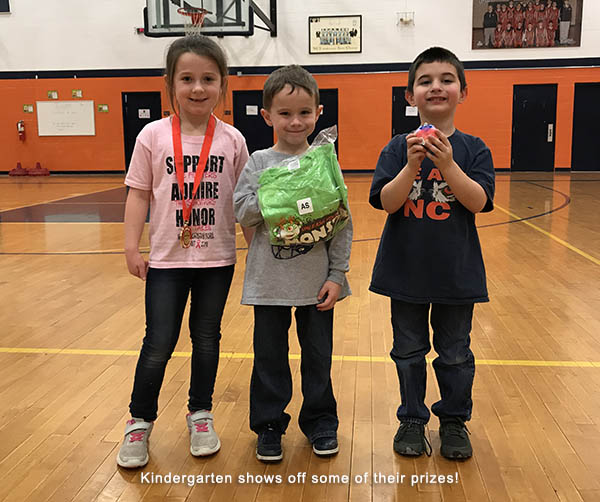 4944417bace328 Each grade level class had competitions to see who could raise the most and  have the most students register. Our Kindergarten Eagles alone raised over  ...